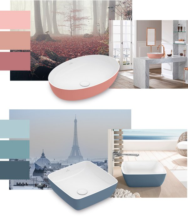 Villeroy & Boch Pantone-referenced basins
