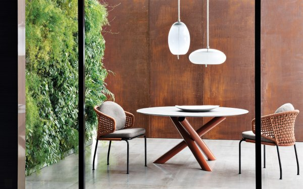 Rodolfo Dordoni's Van Dyke table for Minotti