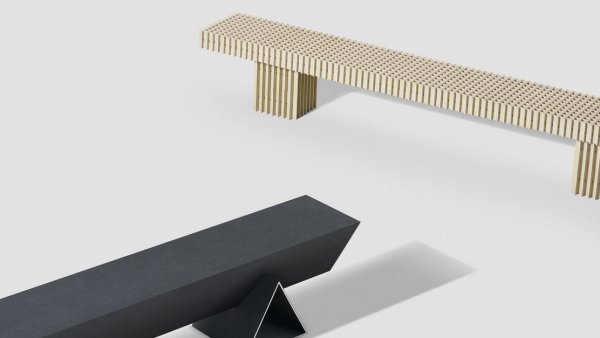 Solid Texture Board benches by Max Lamb