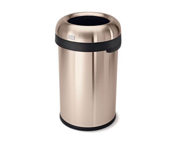 Simple Human commercial bin in rose gold