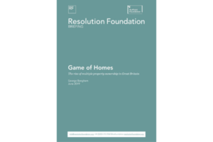 Resolution Foundation Game of Homes report